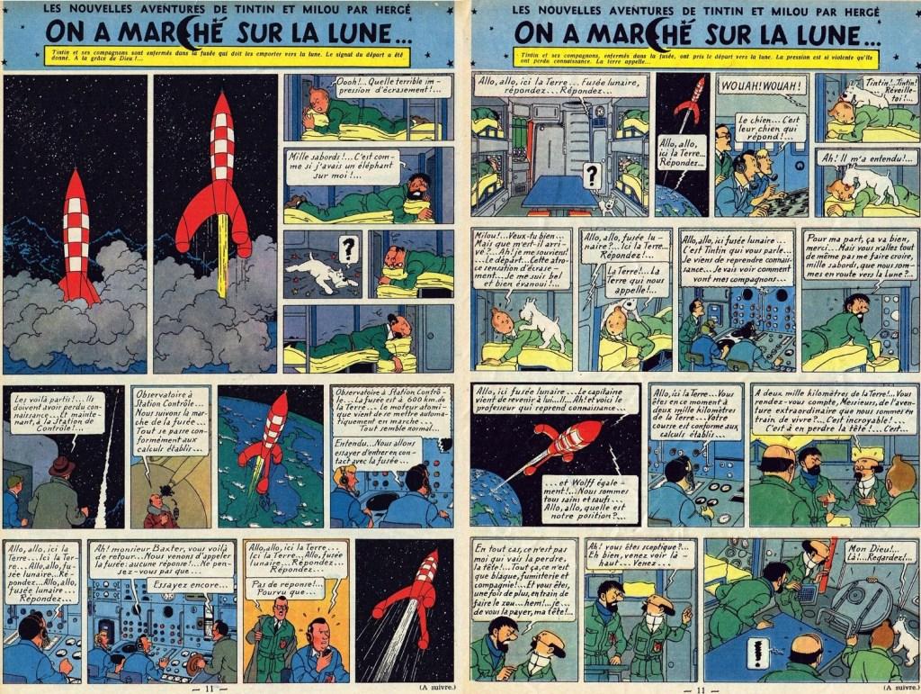 Införande nr 55-56 i Le Journal de Tintin. ©Hergé-Moulinsart