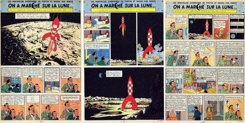 Införande nr 75-77 i Le Journal de Tintin. ©Hergé-Moulinsart