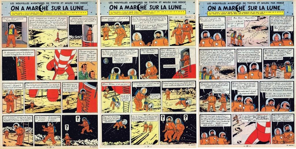 Införande nr 78-80 i Le Journal de Tintin. ©Hergé-Moulinsart