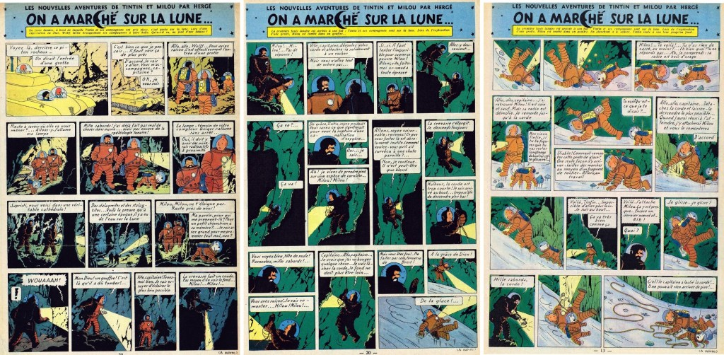 Införande nr 90-92 i Le Journal de Tintin. ©Hergé-Moulinsart