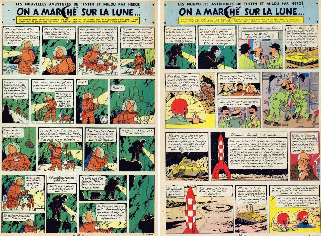 Införande nr 93-94 i Le Journal de Tintin. ©Hergé-Moulinsart