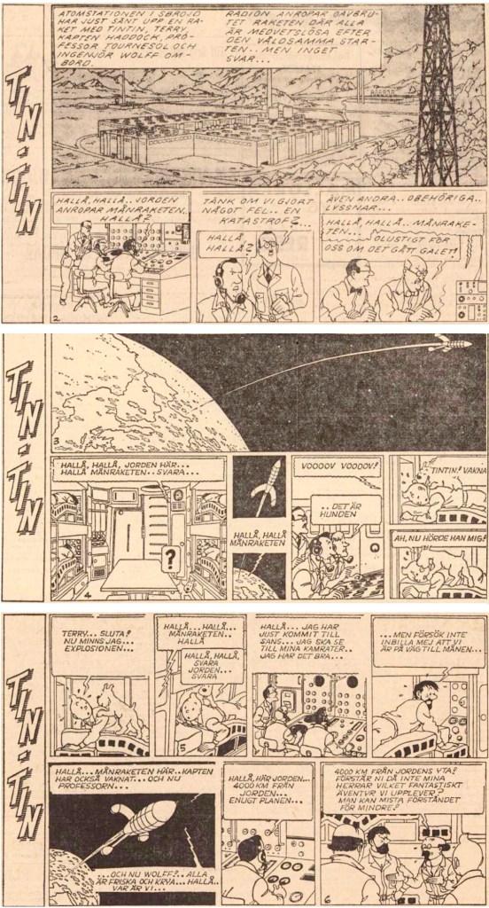 Inledningen av Månen tur och retur, del 2, ur DN från 15-17 augusti 1961. ©PIB