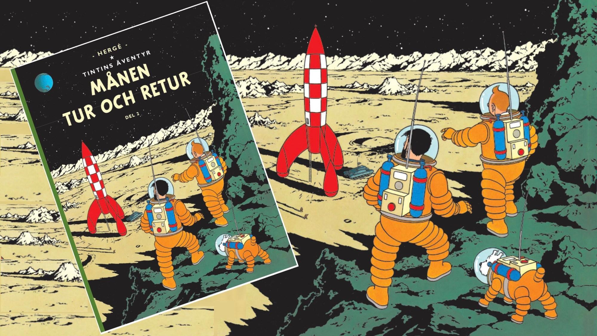 Månen tur och retur, med Tintin, del 2