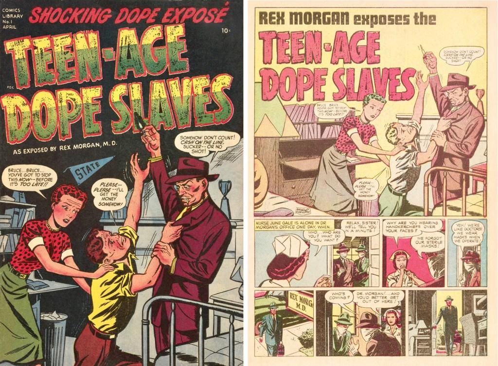 Omslag och inledande sida till Harvey Comics Library #1. ©Harvey