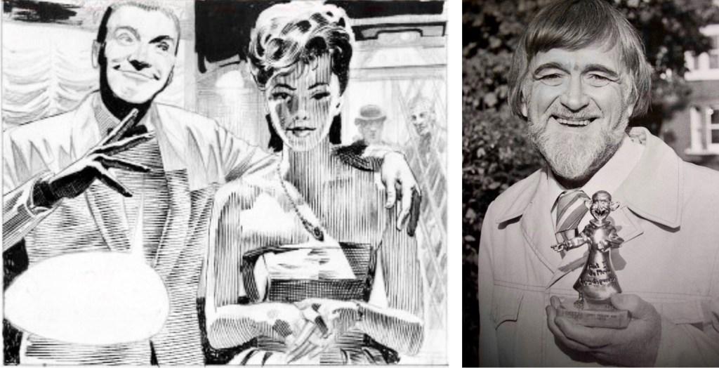 Frank Hampton fick provteckna Modesty Blaise, men fick inte jobbet.