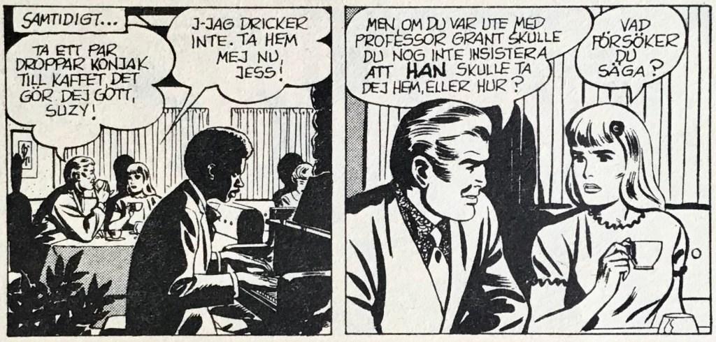 Besvärande uppvaktning, från en dagsstripp ur Comics nr 4. ©Europa Press