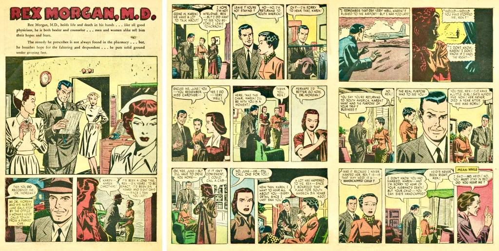 Inledande sidor till den inledande serien i det första numret. ©Argo