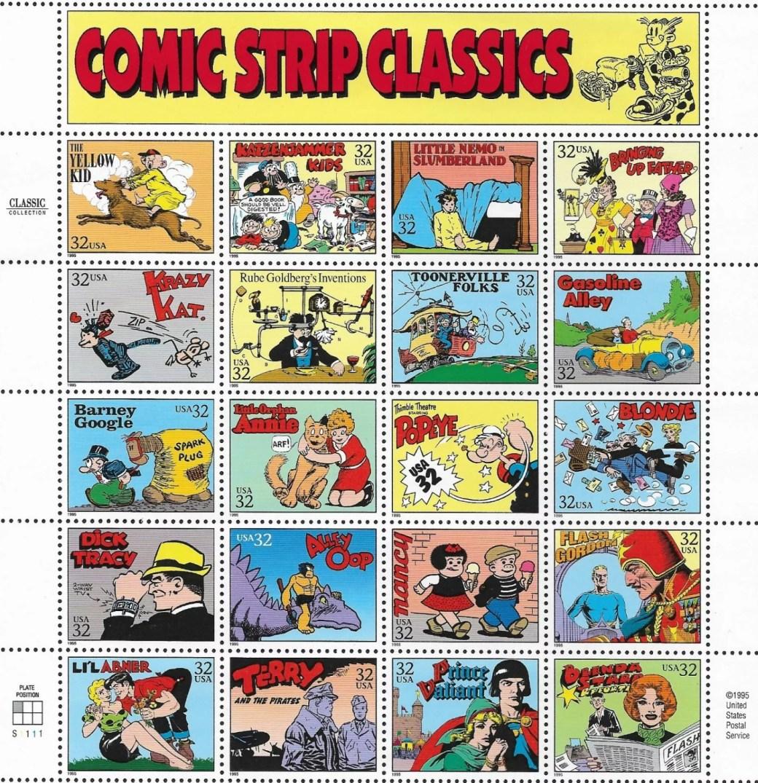 Bringing Up Father var en av 20 Serier som uppmärksammades som Comic Strip Classics av U.S. Post.