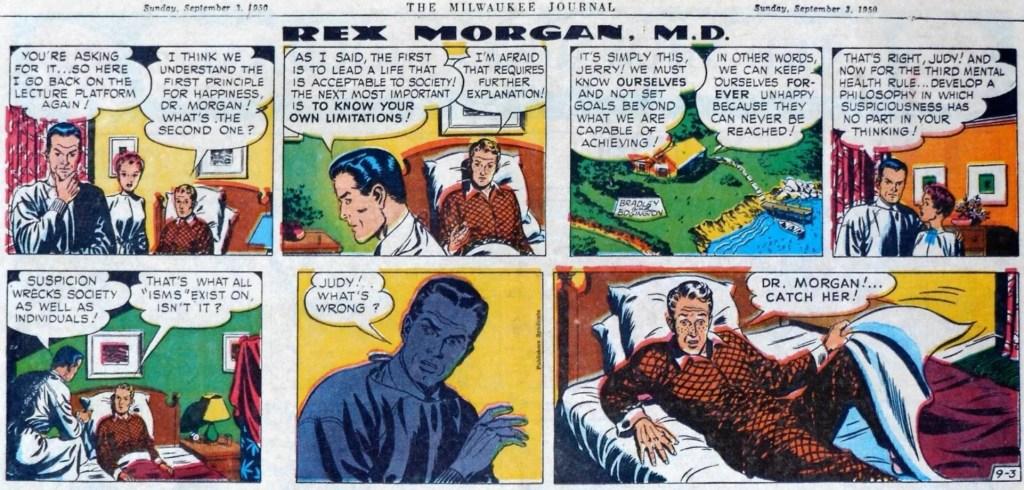 En söndagsstripp med Rex Morgan M. D. Från 3 september 1950. ©Publishers