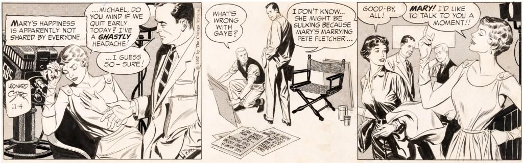 Original till dagsstrippen från 4 november 1957. ©CTS