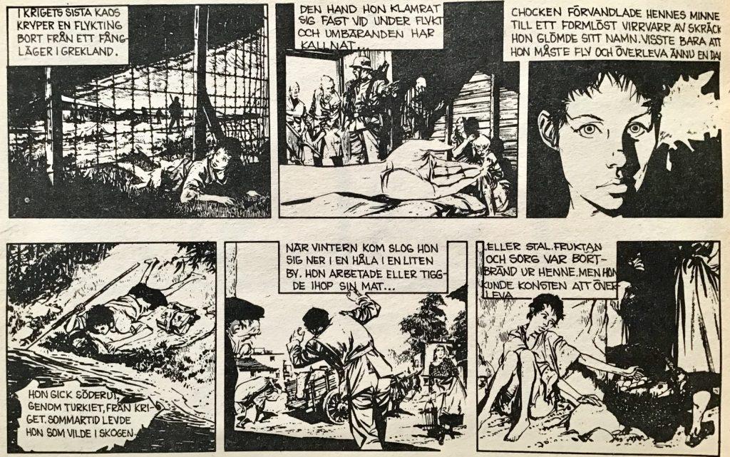 De första dagsstripparna ur Comics nr 5. ©Bulls