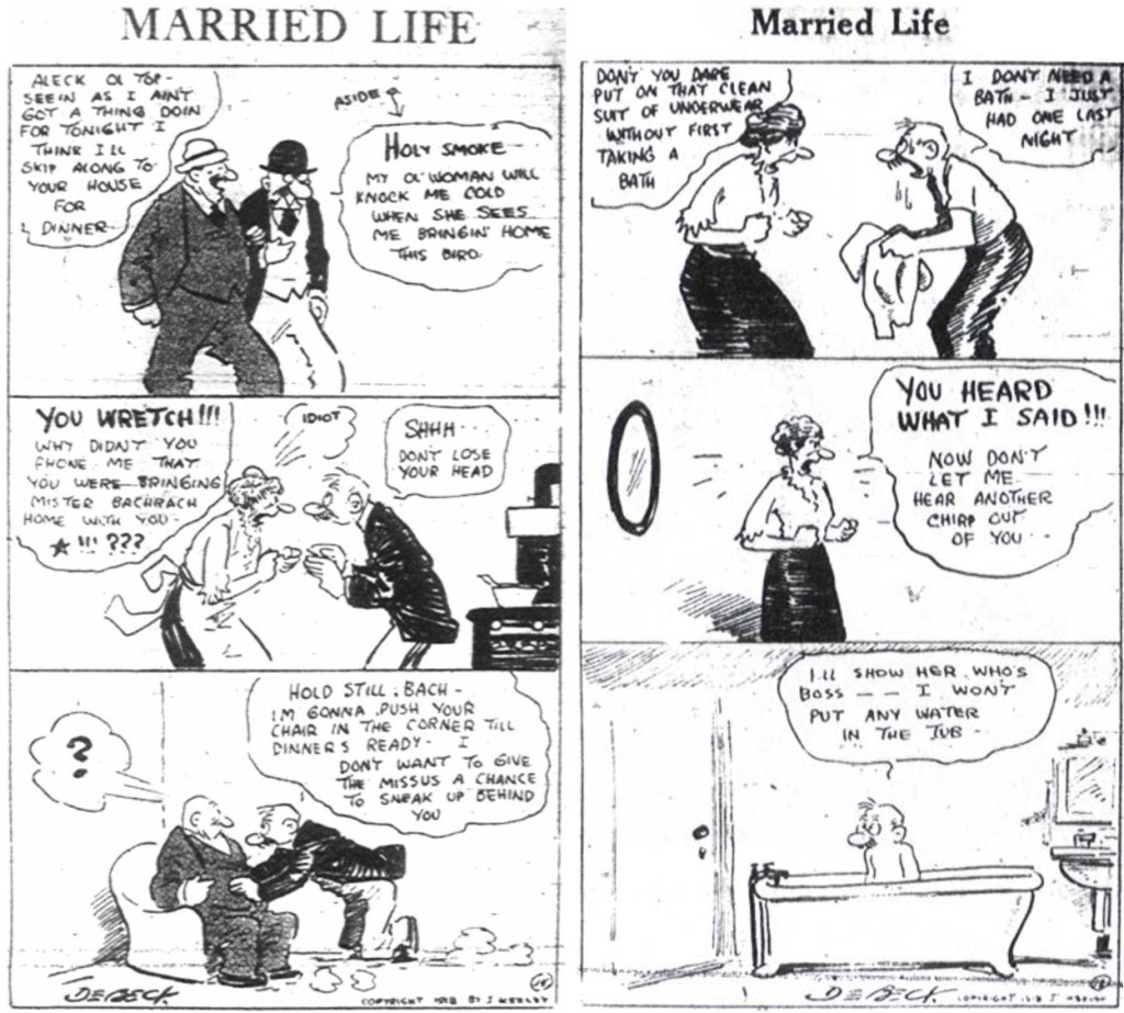 Ett par strippar med Married Life, från 1918.