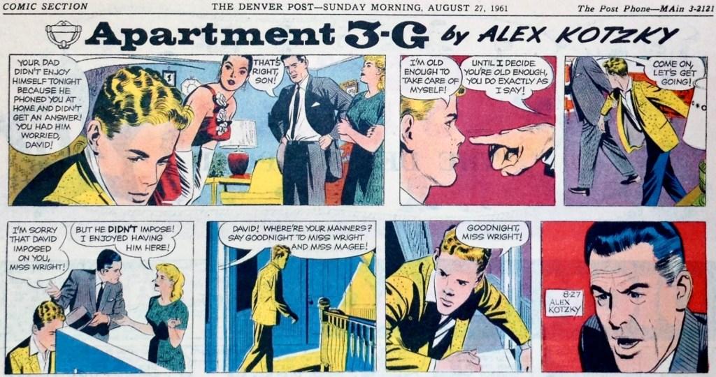 En söndagsstripp med Apartment 3-G från 27 augusti 1961. ©Publishers