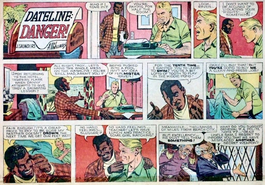 Söndagsstripp med Dateline Danger! från 9 februari 1969. ©Field