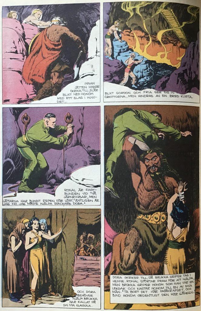 En sida ur Comics nr 5, med Blixt Gordon av Alex Raymond. ©Bulls