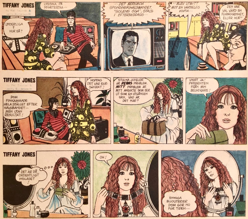 Några strippar med Tiffany Jones ur Comics nr 4. ©Bulls