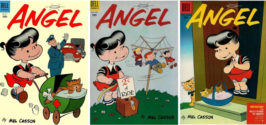 Omslag till Four Color Comic #576, Angel #2 och #3. ©Dell