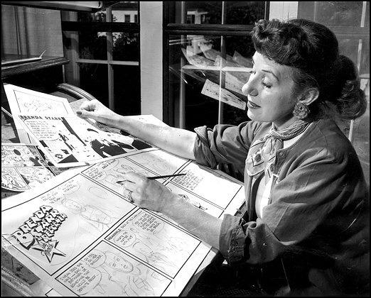 Dalia Messick, skapare av den tecknade serien Brenda Starr, Reporter. ©Chicago Tribune/AP