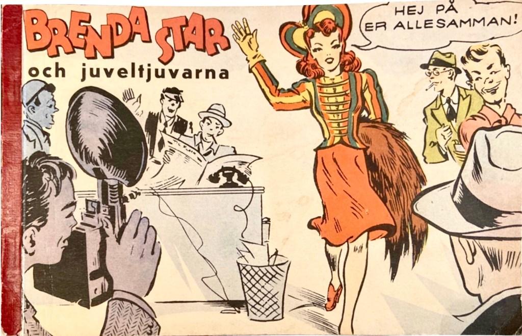 Omslag till Brenda Star och juveltjuvarna (1944). ©Allers/CTNYNS