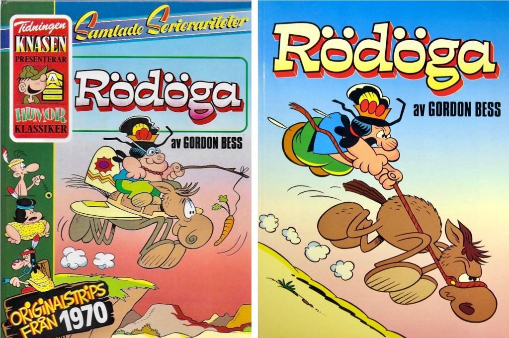 Omslag till seriealbum med Rödöga (Redeye) från 1986 och 1990. ©Semic/Bulls