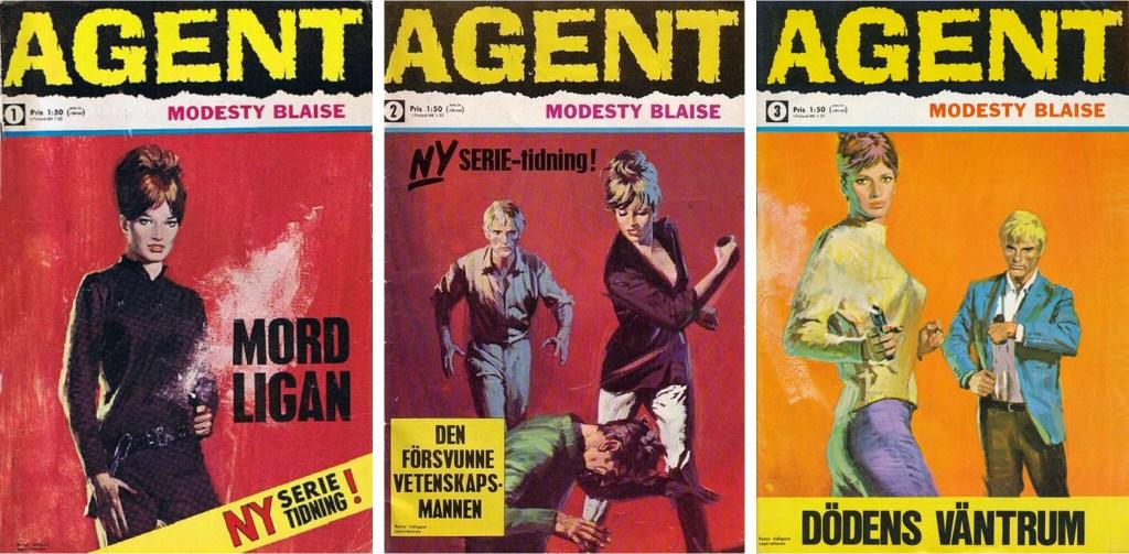 Omslag till Agent Modesty Blaise, nr 1-3 (1967). ©Semic