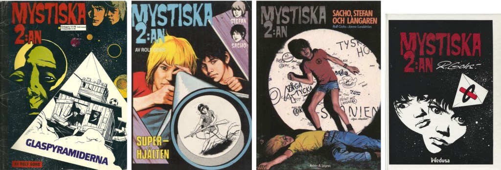 Omslag till några seriealbum (1974-86). ©Semic/Rabén&Sjögren/Medusa
