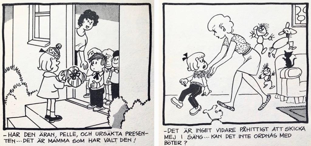 Ett par skämtteckningar ur Comics nr 5. ©PIB