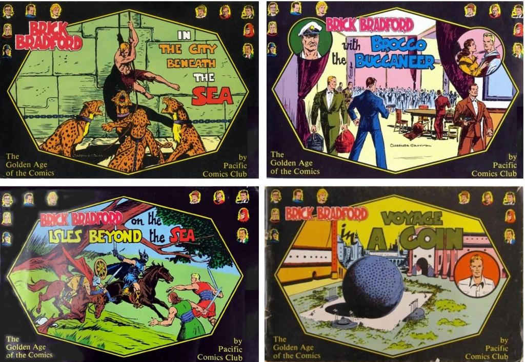 Samlingsalbum med dagsstrippar ur episod 1-3 och 5. ©Pacific Comics Club