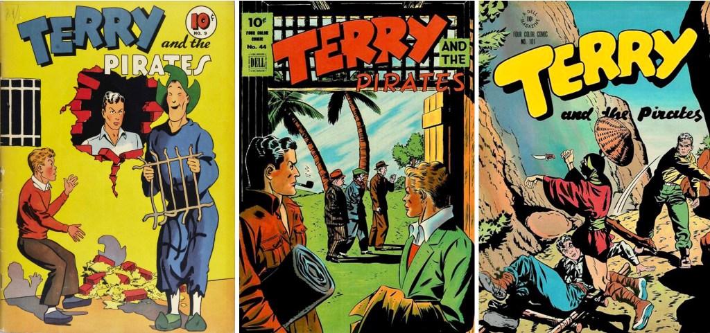 Omslag till Four Color Comic #9, #44 och #101. ©Dell