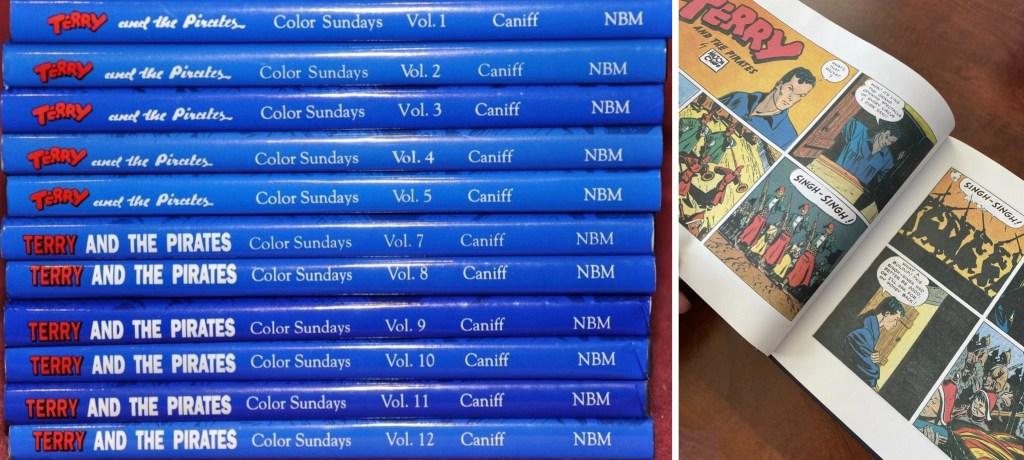 De tolv volymerna, och ett uppslag ur den elfte. ©NBM