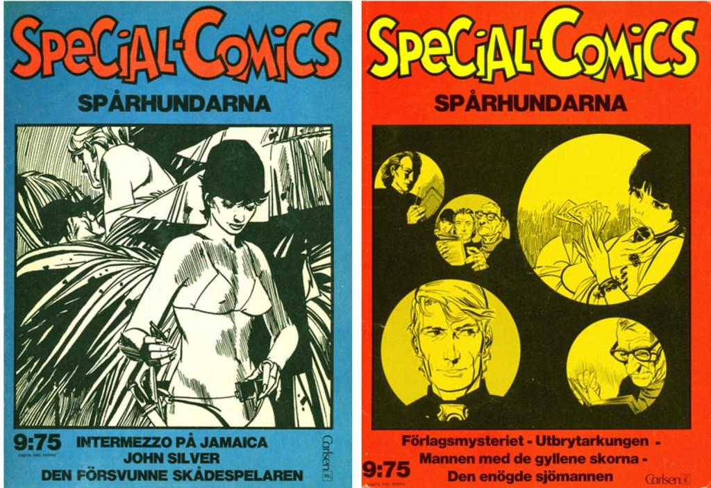 Omslag till Special-Comics nr 3 och 8. ©Carlsen