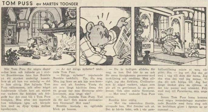 Dagsstripp nr 1730 (ursprungligen från 1952), ur DN 31 augusti 1953, inleder det 51:a äventyret. ©STA