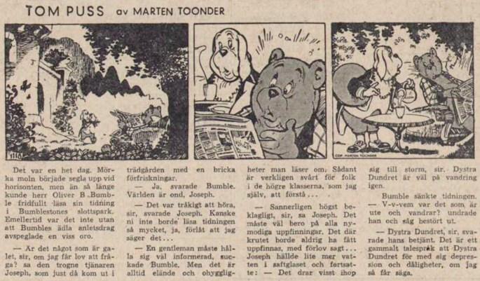 Dagsstripp nr 3118 (ursprungligen från 1957), ur DN 14 januari 1958, inleder det 75:a äventyret. ©STA