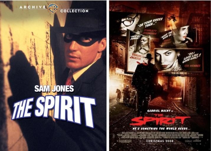 Tv-filmen (1987) och superhjältefilmen (2008) med The Spirit. ©Warner/OddLot