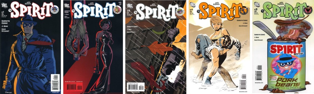 Omslag till The Spirit #1-5 (2007). ©DC Comics