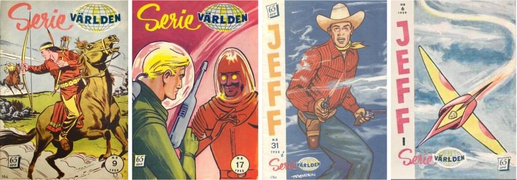 Serievärlden bytte titel till Jeff i serievärlden, från och med nr 29, 1958. ©Hanna