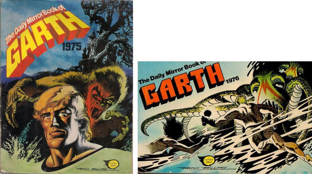 Omslag till The Daily Mirror Book of Garth (1975-76). ©Fleetway