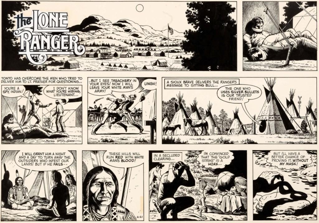 Original till en söndagssida med Lone Ranger, från 21 februari 1982. ©NYTS