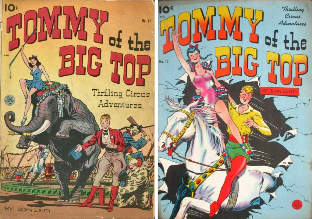 Omslag till Tommy of the Big Top #11 och #12. ©Best Books