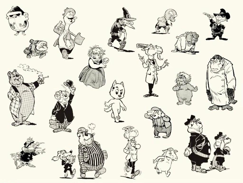 Tom Puss har ett omfattande figurgalleri. ©STA