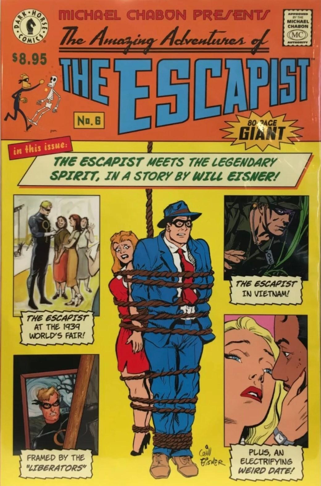 Omslag till The Amazing Adventures of the Escapist #6 (2005). ©  Dark Horse Comics