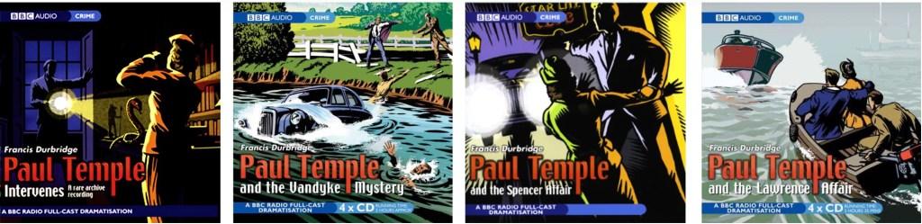 Paul Temple var ursprungligen en radioserie, som även finns utgiven i olika samlingar. ©BBC