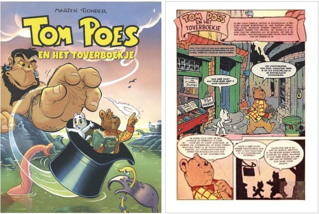 Omslag och inledande sida i original ur den 63:a episoden Tom Poes en het toverboekje, från 1958. ©STA