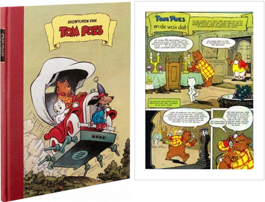 Motsvarande inledning i original ur den 60:e episoden Tom Poes en de wa's dat, från 1958, ur en utgåva från 2000. ©STA