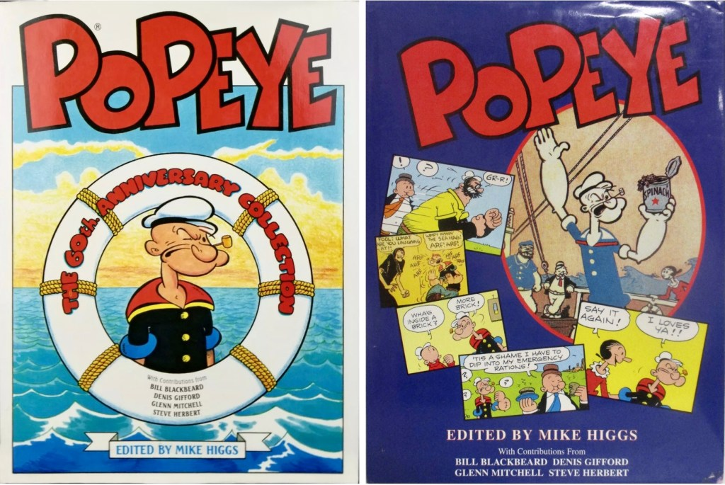 Omslag till Popeye: The 60th Anniversary Collection (1989 resp 1995). ©Hawk