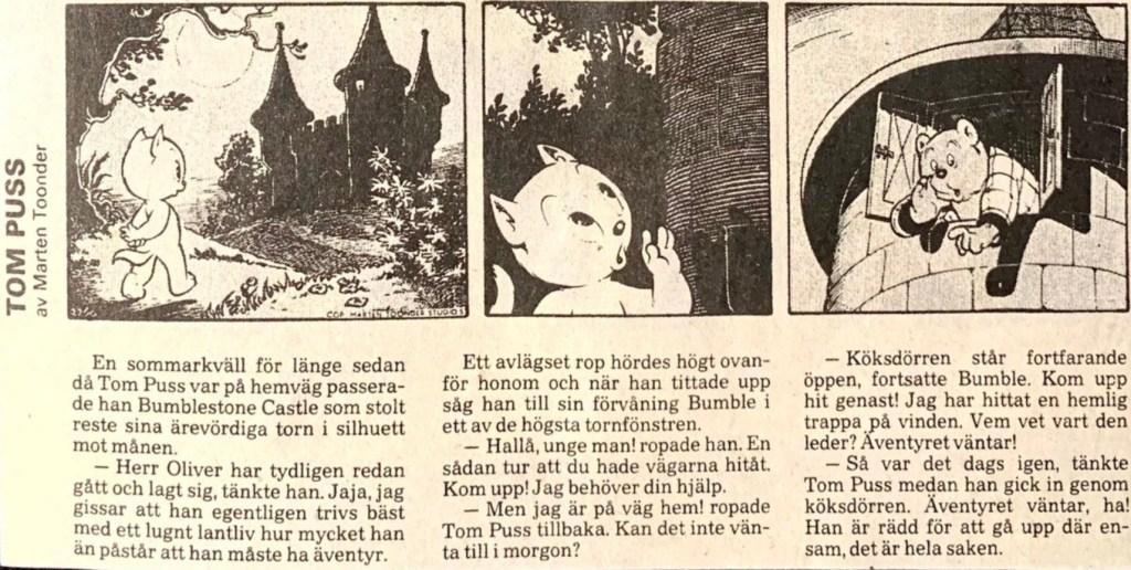 Motsvarande dagsstripp från 23 april 1987, i ny översättning. ©STA