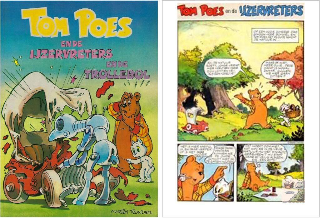 Omslag och inledning i original ur episoden Järnätarna, från en utgåva från 1983. ©STA