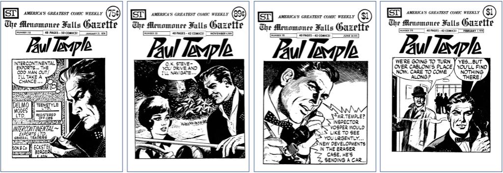Serien Paul Temple fick plats på omslaget i MFG #110, #151, #185 och #216. ©Street Enterprises