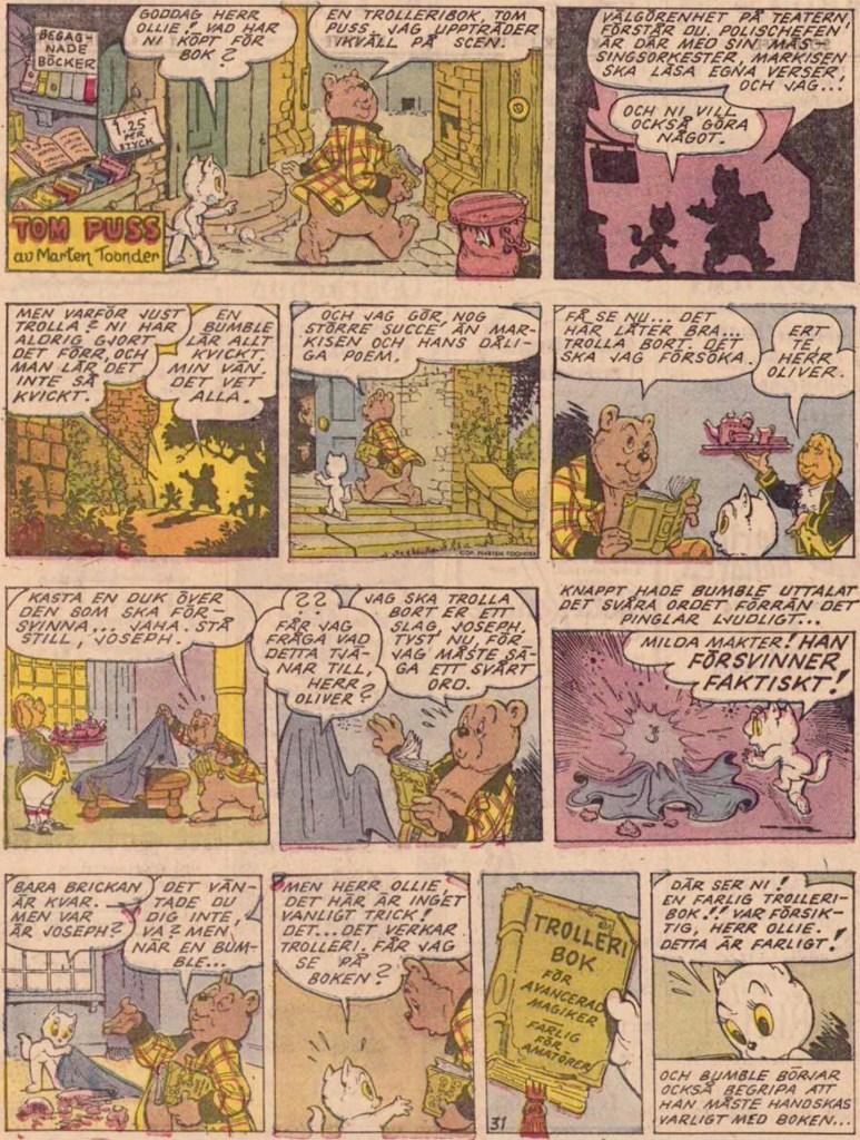 Inledande söndagssida ur 27:e episoden, från 23 november 1958. ©STA