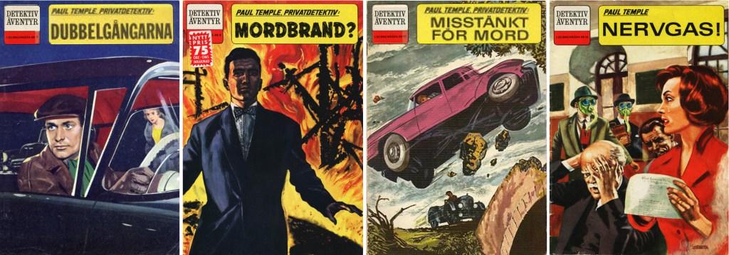 Omslag till nr 5 (1962), nr 9-10 och 13 (1963). ©Williams